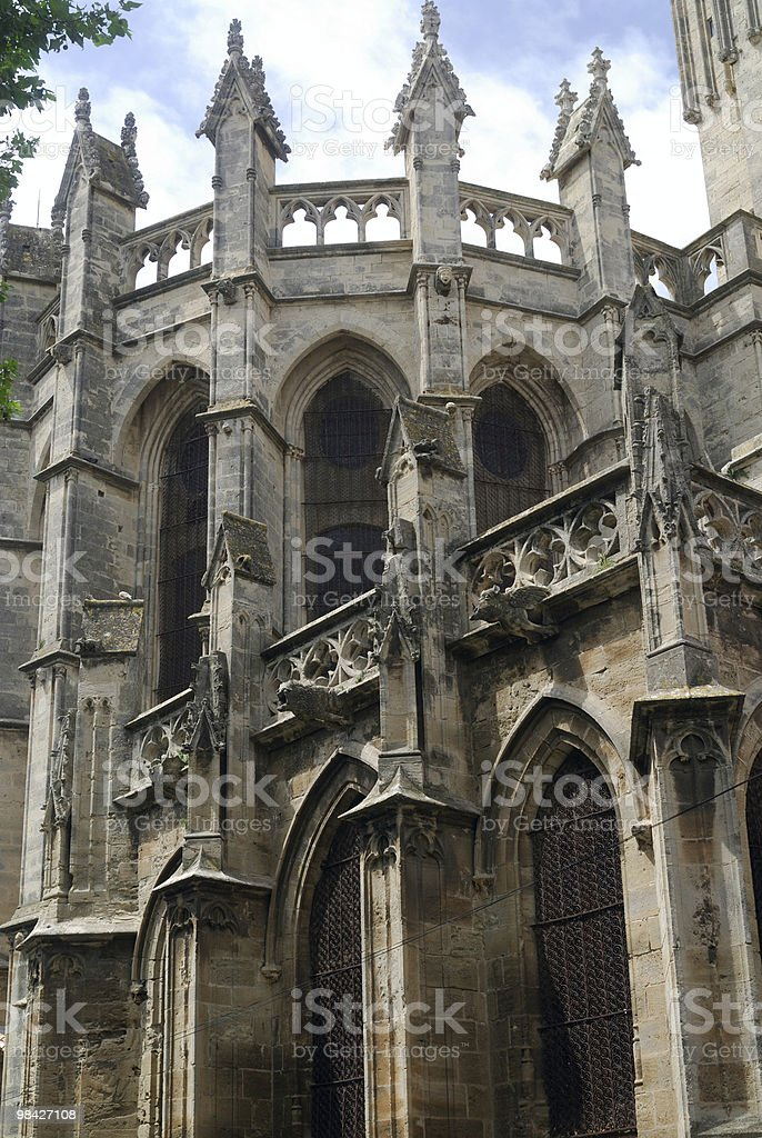 Beziers (Languedoc-Roussillon, France) - The gothic cathedral royalty-free stock photo