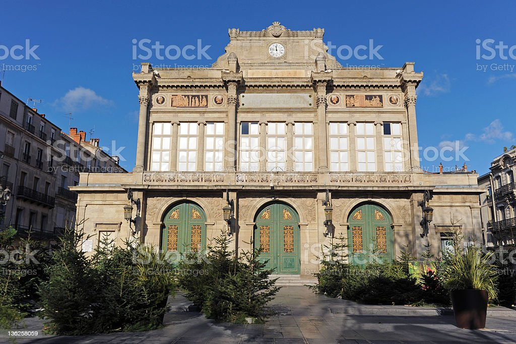 Beziers theater stock photo