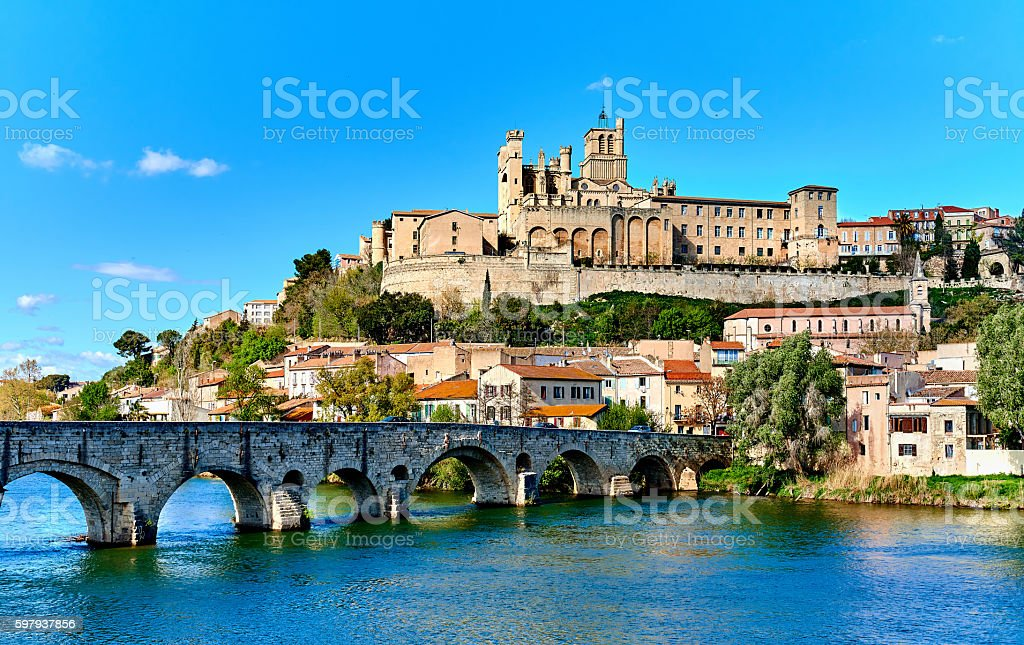 Beziers town. France stock photo