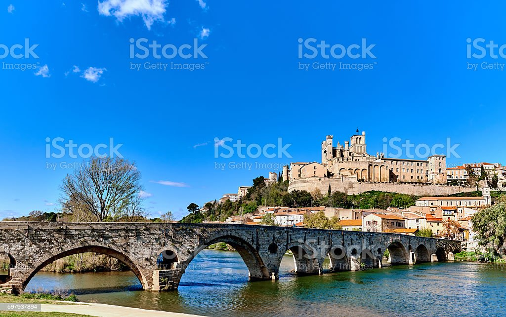 Beziers town, France stock photo