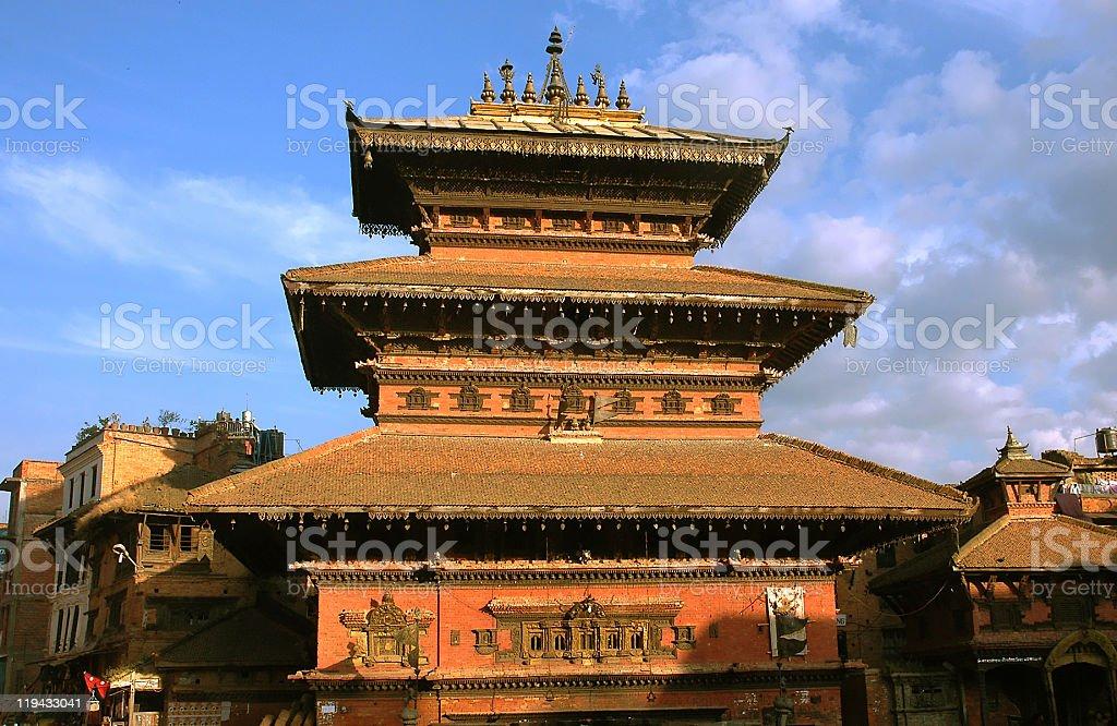 Bhairab temple stock photo