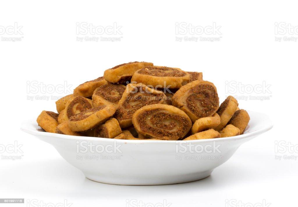 Bhakarwadi food stock photo