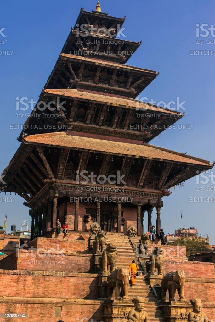 Bhaktapur Dubar Square stock photo