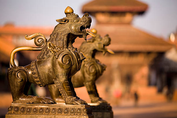 Bhaktapur Durbar Square stock photo