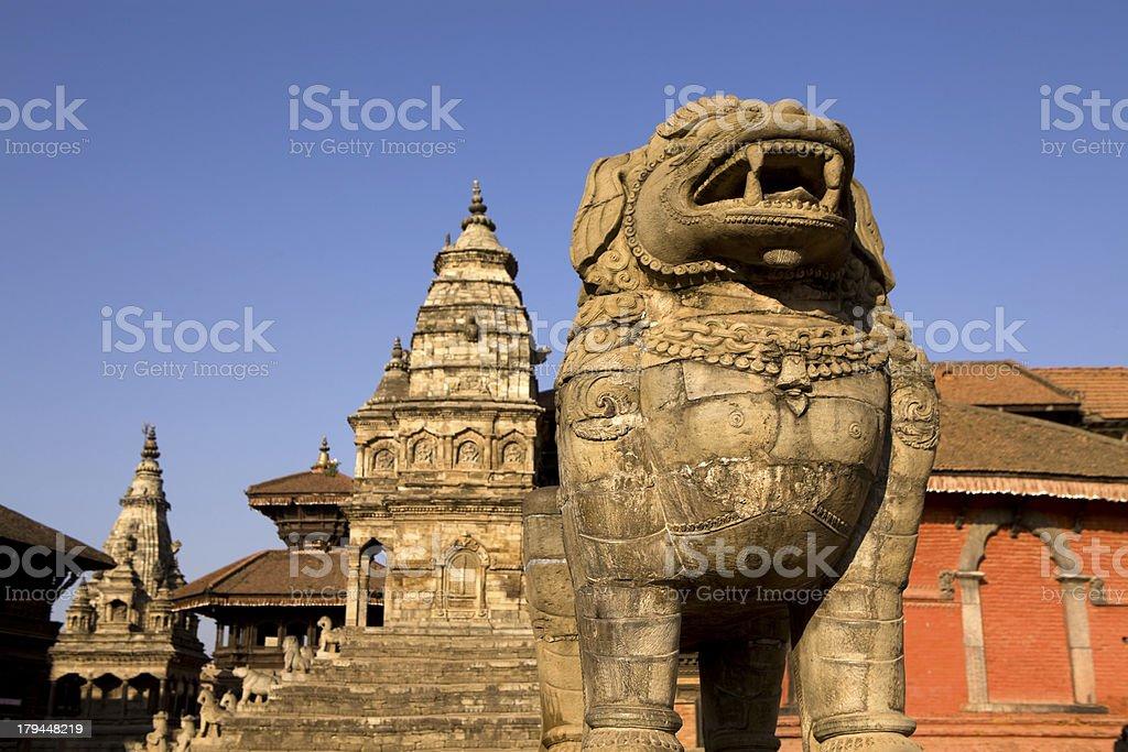 Bhaktapur Durbar Square royalty-free stock photo