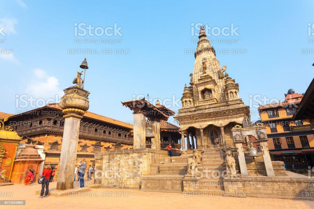 Bhaktapur Durbar Square Vatsala Durga Palace Close stock photo