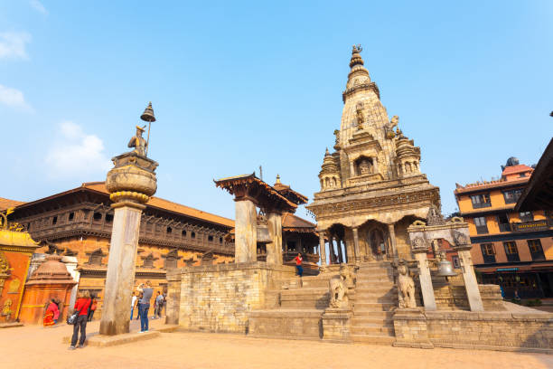 Bhaktapur Durbar Square Vatsala Durga Palace Close stock photo