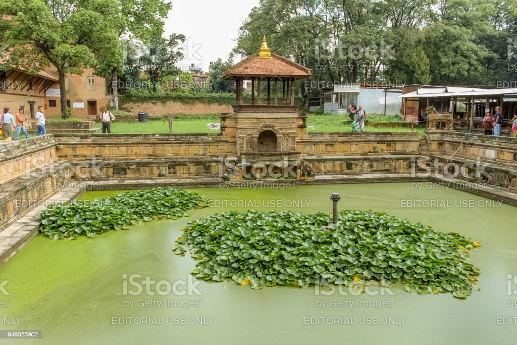Bhandarkhal water tank, once the main supply of water for the palace, Patan Durbar Square stock photo