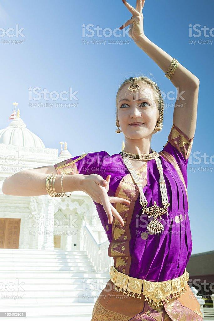 Bharatanatyam Dance Performer royalty-free stock photo