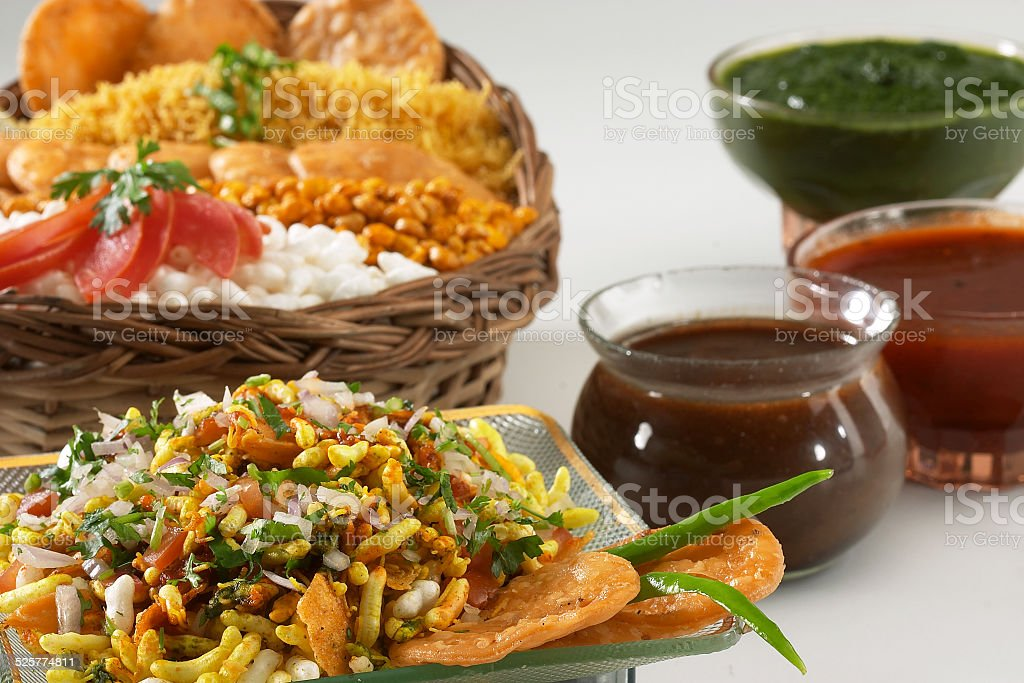 Bhel puri, Chat item, India stock photo