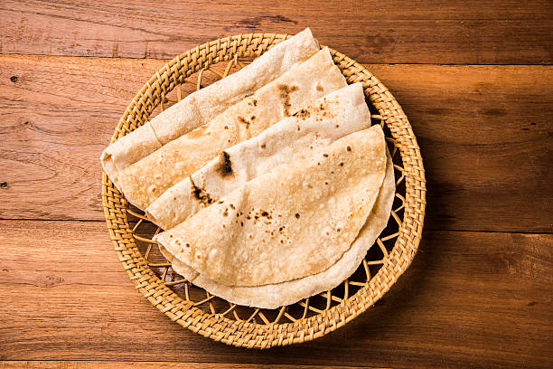 Bhendi Masala oder Bhindi Masala, Meine finger-curry mit Chapati – Foto