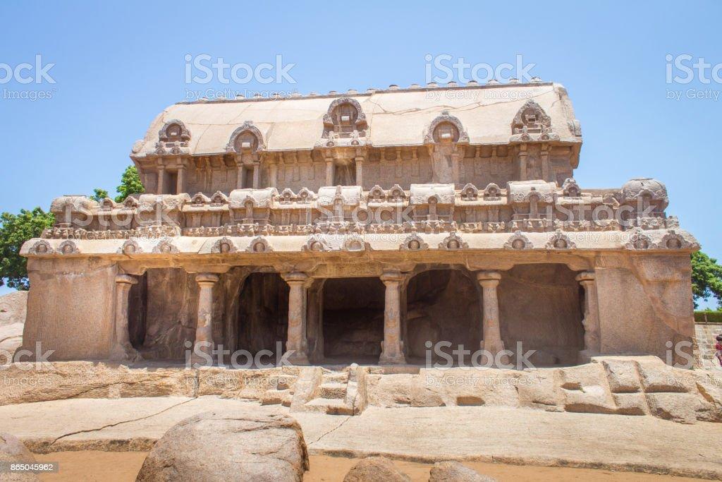 Bhima Ratha, Five rathas monument, Mahabalipuram, Tamil Nadu, India stock photo