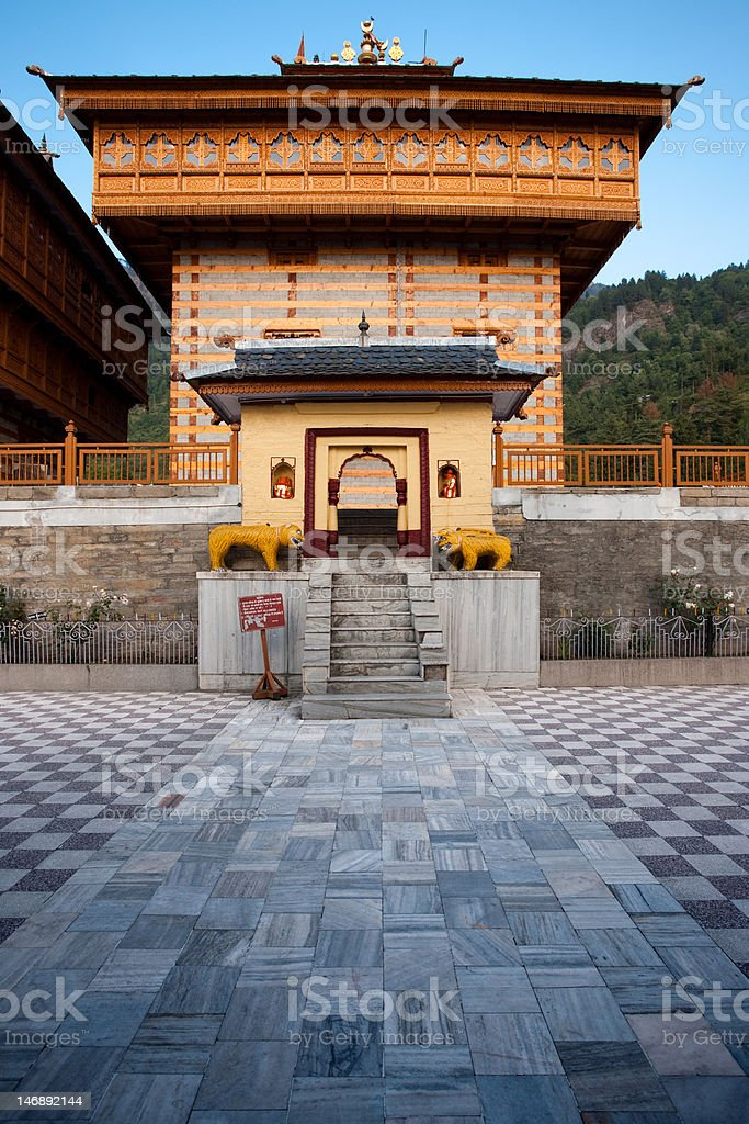 Bhimakali Hindu Temple Courtyard Entrance royalty-free stock photo