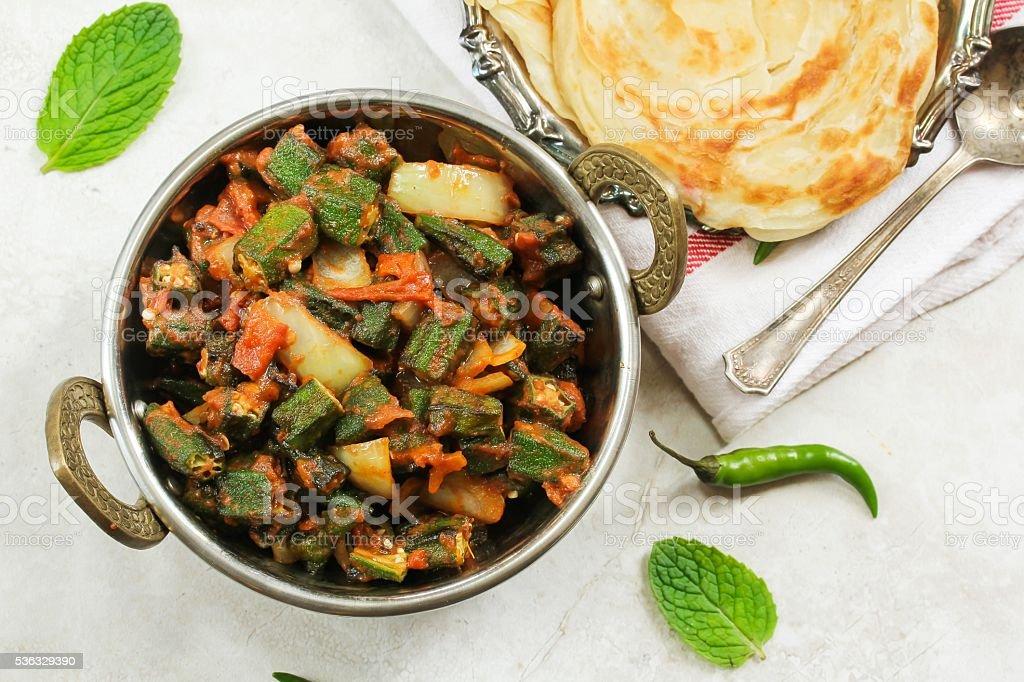 Bhindi Masala / Okra Fry stock photo