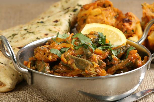 Bhindi Masala stock photo