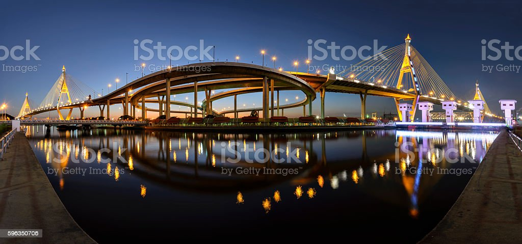 Bhumibol 2 Bridge Thailand. royalty-free stock photo