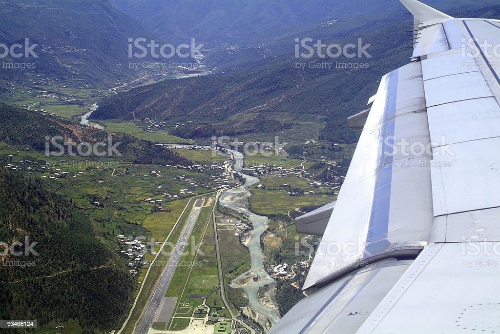 Bhutan, Airport  Airplane Stock Photo