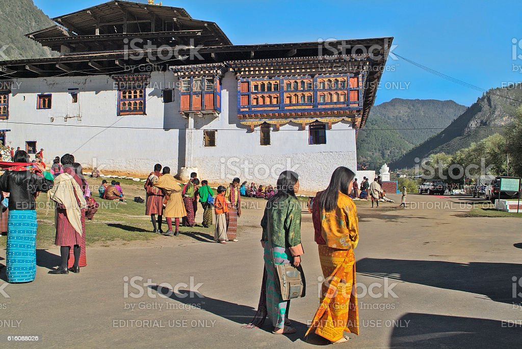 Bhutan, Haa, People stock photo