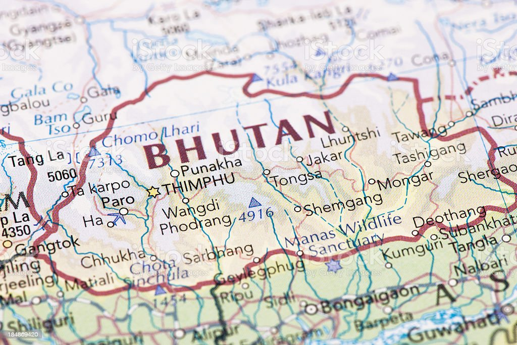 Royalty Free Map Bhutan Pictures Images and Stock Photos iStock