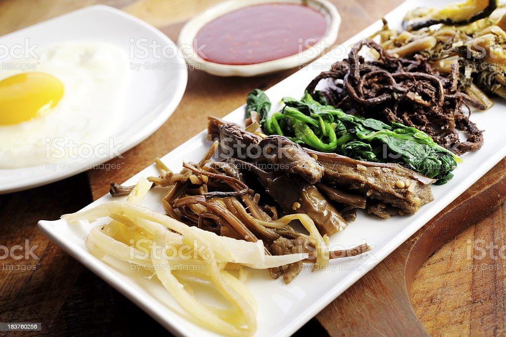 Bi Bim Bap ingredientes. - foto de stock