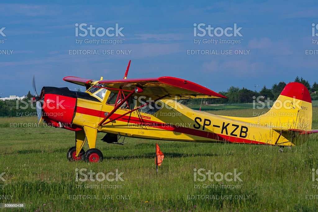 Bialystok , Poland , June 4, 2016: Old sports plane stock photo