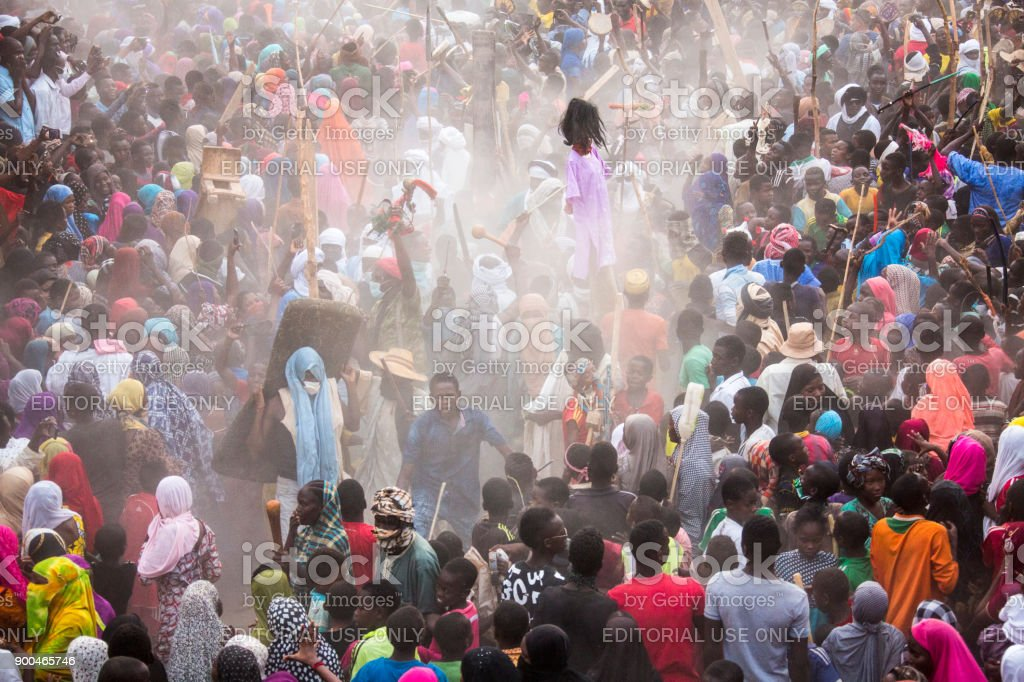 Bianou Festival in  Agadez Niger stock photo
