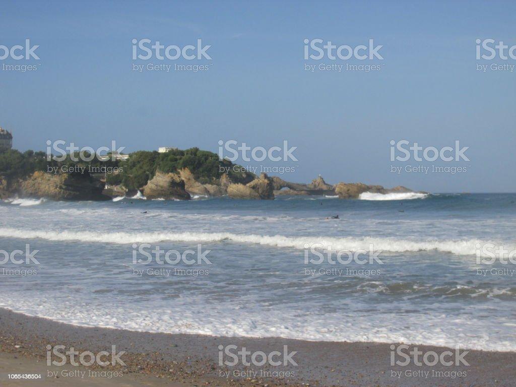 Biarritz beach stock photo