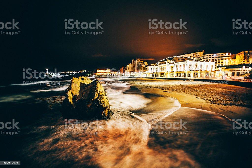 Biarritz par nuit. - Photo