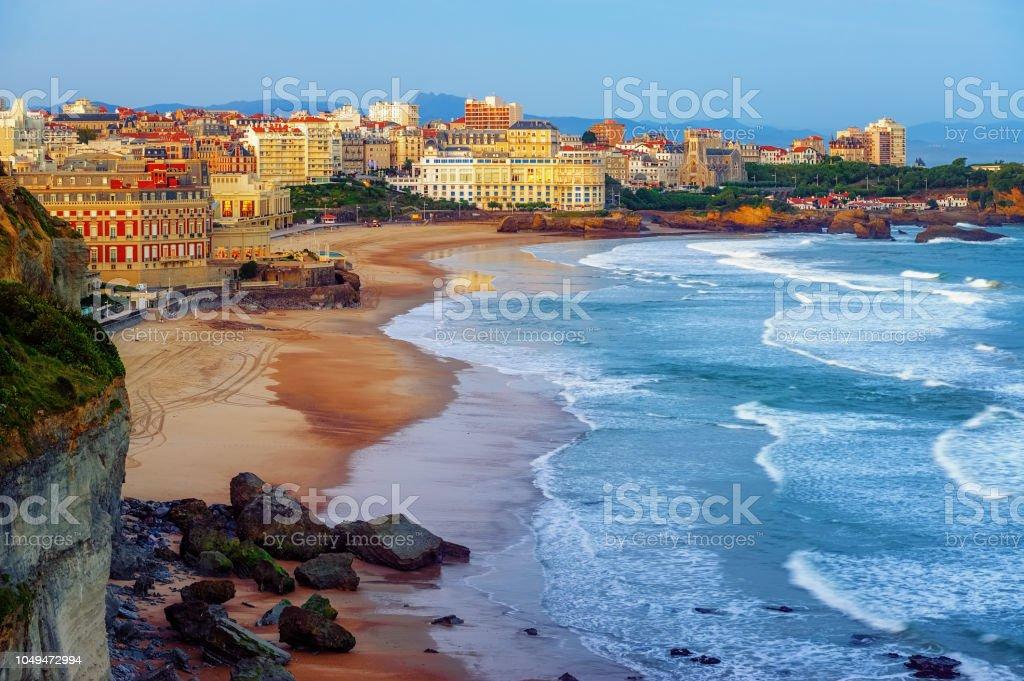 Ville de Biarritz et de ses célèbres plages de sable, France - Photo
