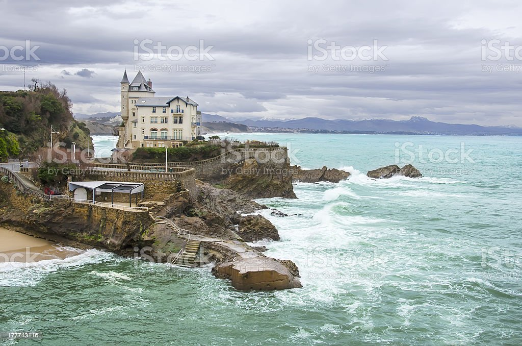 Biarritz in France royalty-free stock photo
