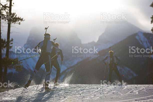 Photo of Biathlon Ski Racers