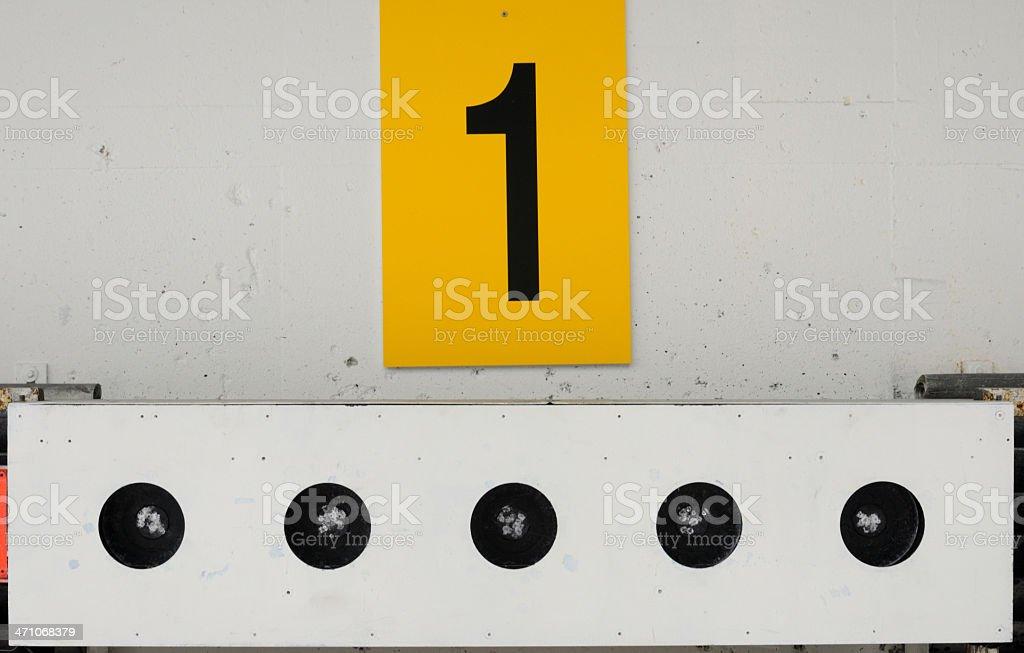 Biathlon target royalty-free stock photo