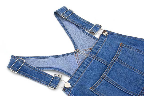 lätzchen-overalls - jeans overall stock-fotos und bilder