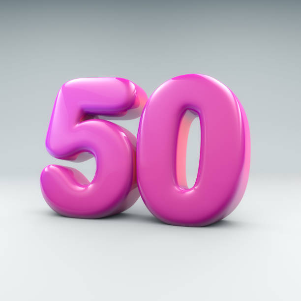 Bibble number 50 stock photo