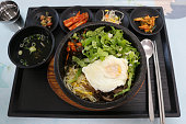 Bibimbap, one of the meals served at the restaurant in highway rest area . South Korea