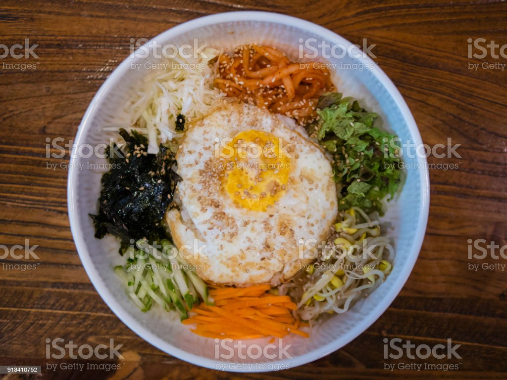 Bibimbap-Korean food, Bibimbap is a classic Korean meal stock photo
