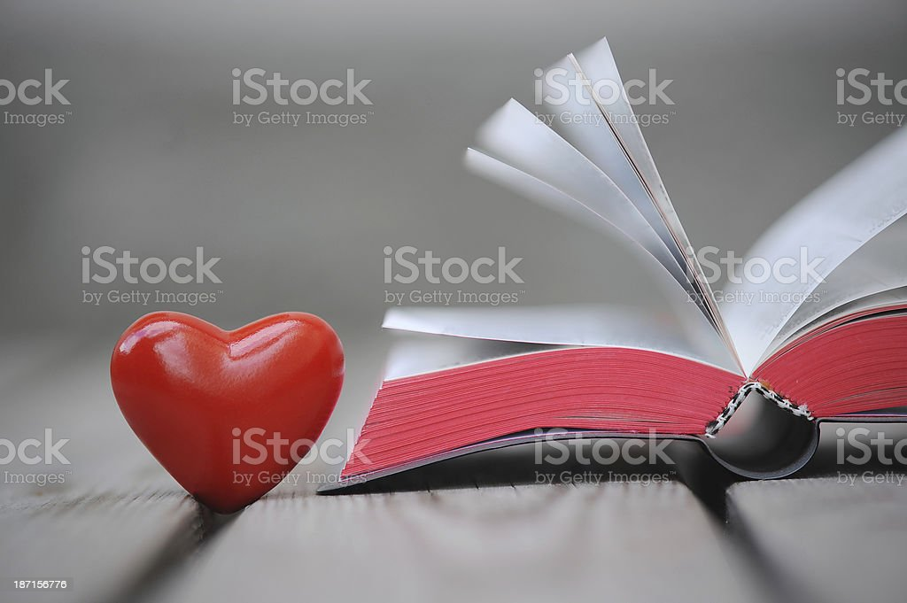 Bible and red heart royalty-free stock photo