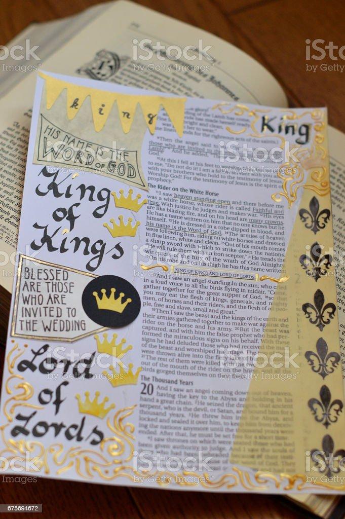 Bible art in revelations stock photo