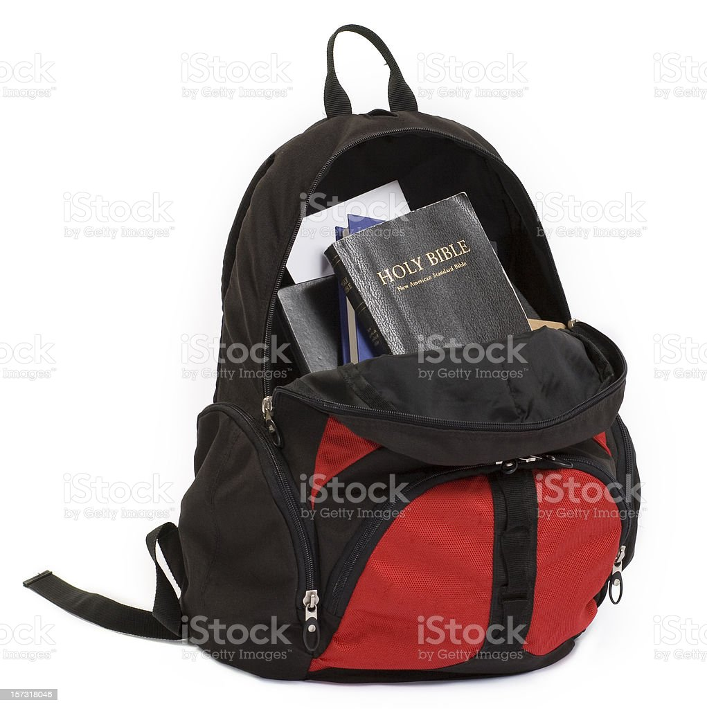 Biblia mochila - foto de stock