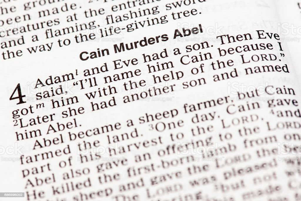 Bibel-Kain ermordet Abel Lizenzfreies stock-foto