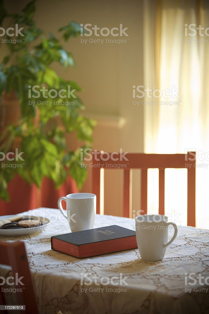 Bible Chat stock photo