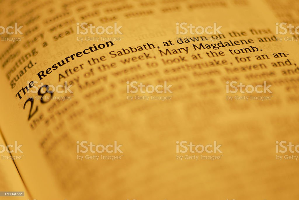 Bible Closeups - The Resurrection royalty-free stock photo