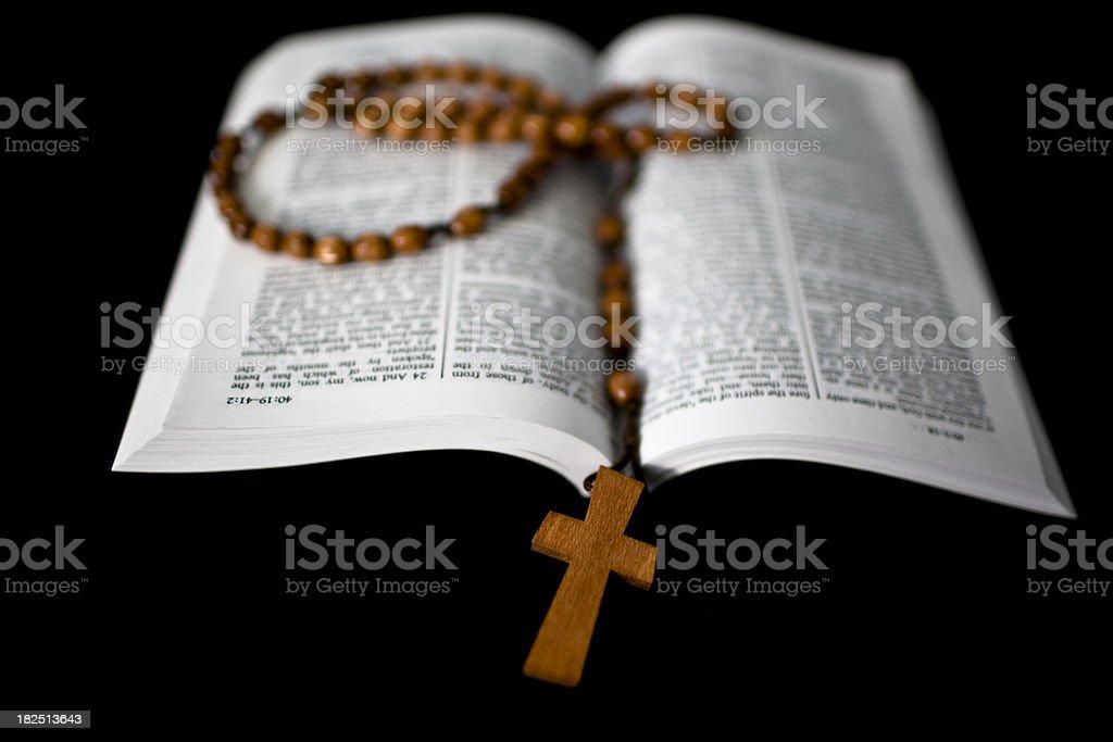 Bible & Cross royalty-free stock photo