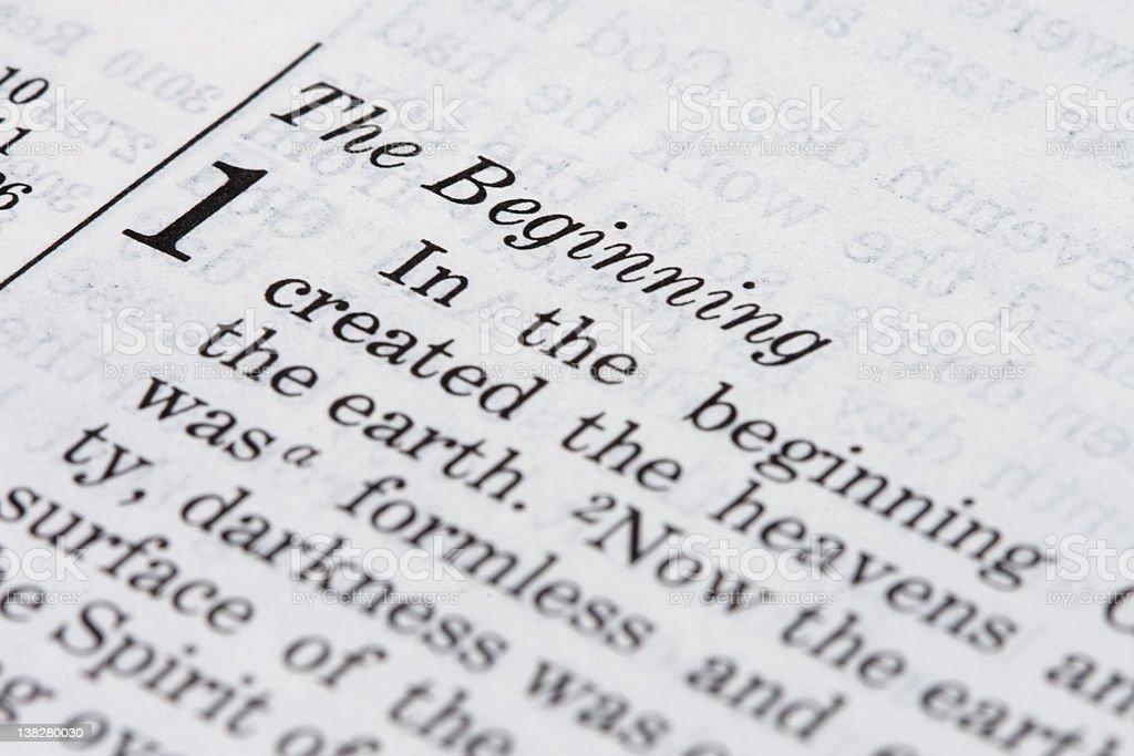 Bible Extracts: Genesis 1 stock photo