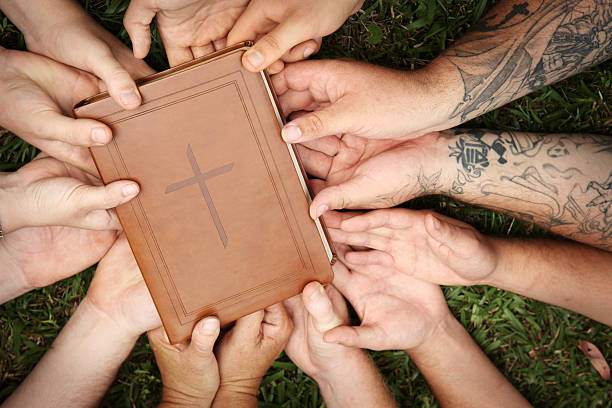 Bible Group stock photo