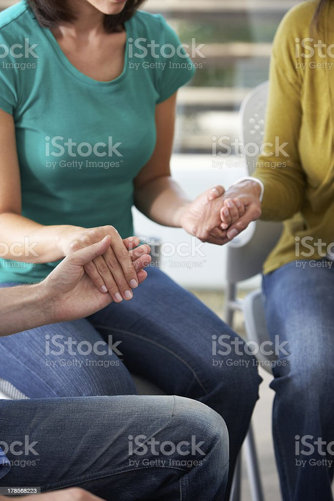 Bible Group Praying Together royalty-free stock photo