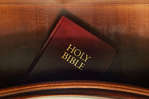 Bible In A Nightstand Drawer Stock Photo - Download Image Now