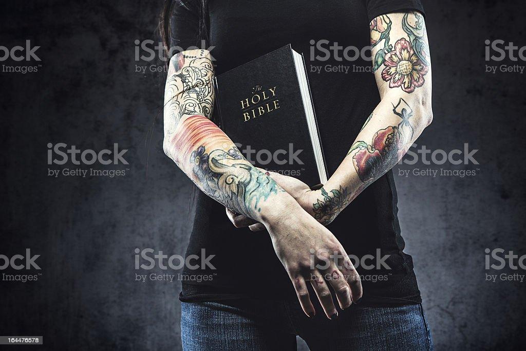 One arm sleeve tattoo