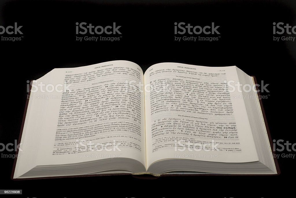 Bible in Biblical Greek stock photo