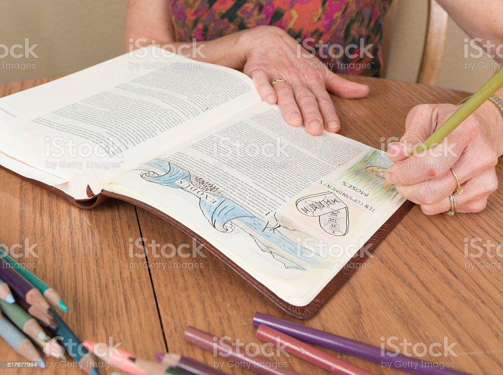 Bible Journaling Exodus stock photo